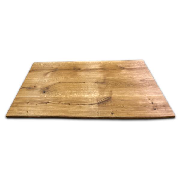 Tischplatte Eiche Rustikal Massiv geölt mit Baumkante 180x90 cm