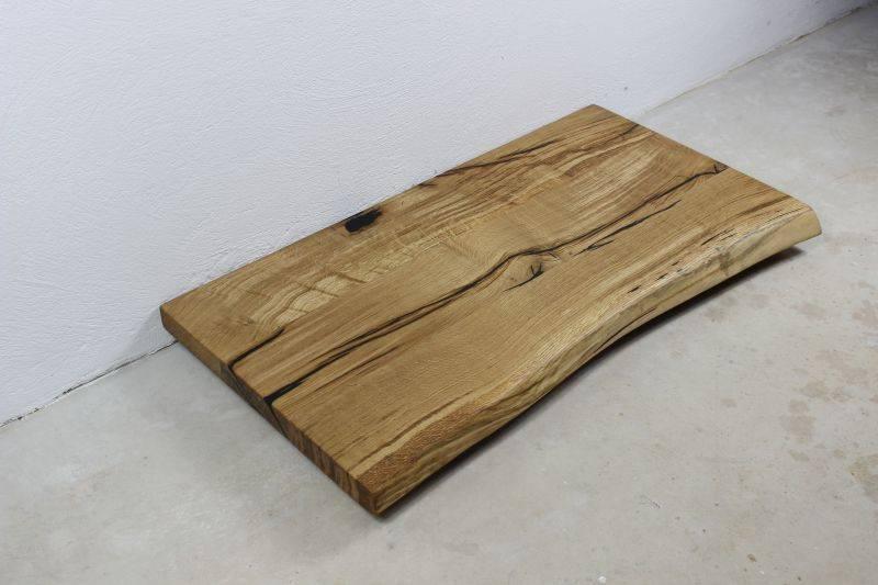 waschtischplatte eiche massiv rustikal mit baumkante 100x50x4 cm. Black Bedroom Furniture Sets. Home Design Ideas