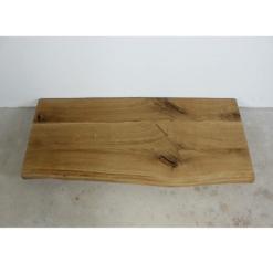 Waschtischplatte Eiche massiv Rustikal mit Baumkante 120x50x4,5 cm
