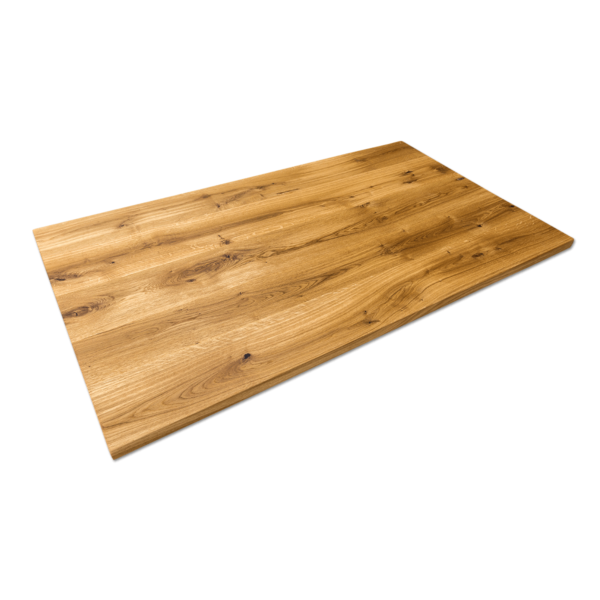 Tischplatte Eiche massiv Baumkante geölt 160x90 cm