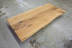 Tischplatte Wildeiche massiv mit Baumkante rustikal