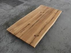 Tischplatte Eiche massiv rustikal geölt mit Baumkante