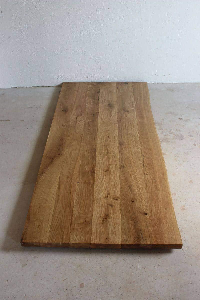 schreibtischplatte eiche ge lt mit baumkante meine. Black Bedroom Furniture Sets. Home Design Ideas