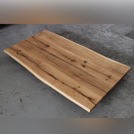 massive Platte mit Baumkante geölt rustikal