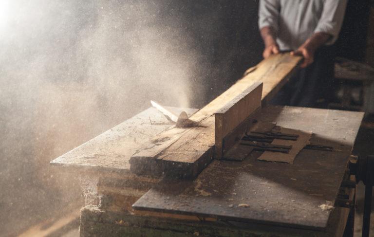 Holz Tischplatte Bearbeitung