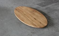Tischplatte Eiche Oval Holz massivholz geölt