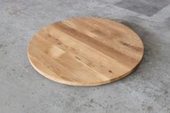 Tischplatte Rund Eiche massiv geölt