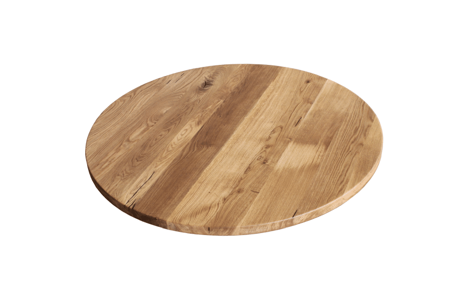 Tischplatte Rund Eiche massiv geölt 60 cm