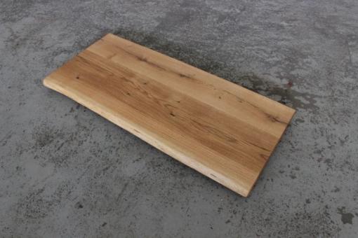 Waschtischplatte Waschtisch Eiche massivholz geölt mit Baumkante