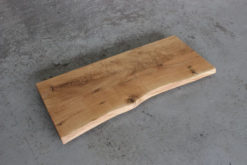 Massivholz Waschtischplatte Eiche rustikal geölt Baumkante