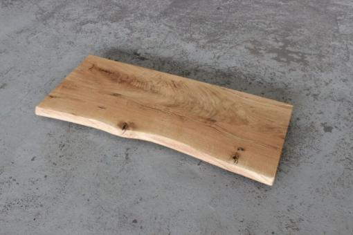Waschtischplatte Holz Eiche massiv geölt Wildeiche mit Baumkante