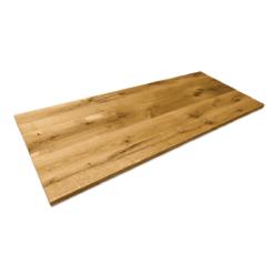 Tischplatte Eiche Rustikal geölt Baumstamm Wildeiche 220x80 cm