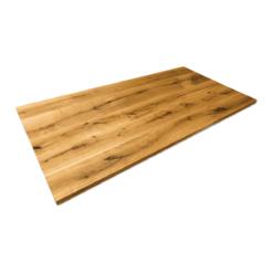 Tischplatte Eiche massiv Wildeiche geölt Esstischplatte Massivholz 200x100cm