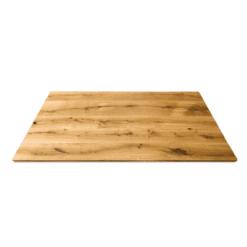 Tischplatte Wildeiche geölt Massivholz Esstisch 200x100 cm