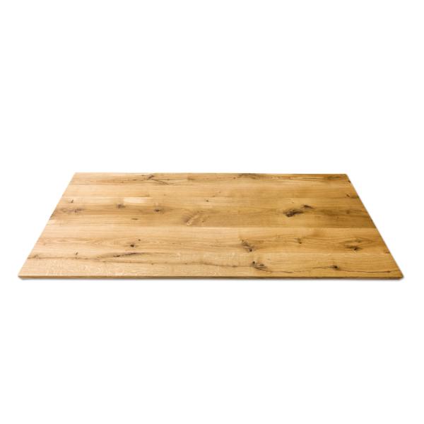 Tischplatte Massivholz Eiche Rustikal geölt 200x80 cm