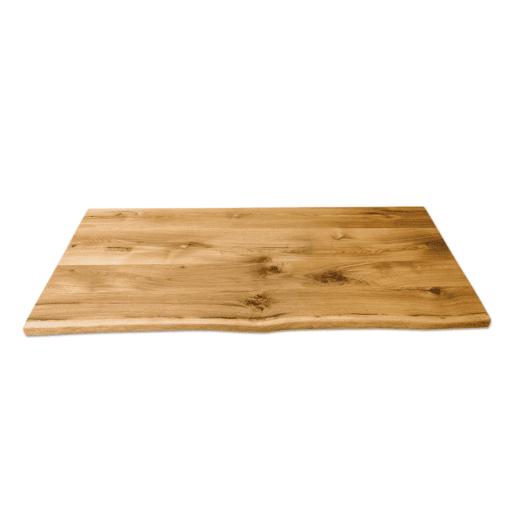 Tischplatte Eiche Rstikal Wildeiche geölt mit Baumkante 200x80 cm Esstisch