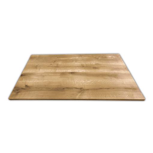 Tischplatte Wildeiche massiv geölt 180x100 cm mit geraden Kanten