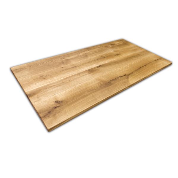 Tischplatte Eiche massiv geölt 180x100 cm mit geraden Kanten