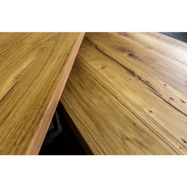 Tischplatte Altholz Eiche massiv geölt nach Maß