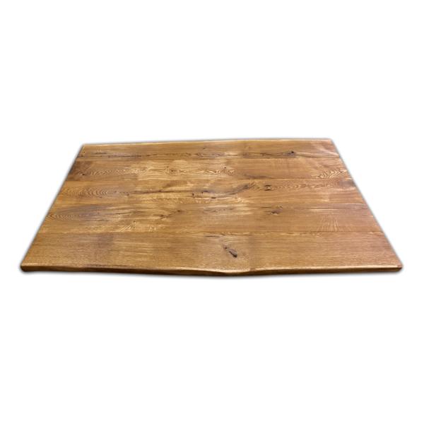 Tischplatte Eiche gebürstet geölt mit V Fuge 180x90x5 cm