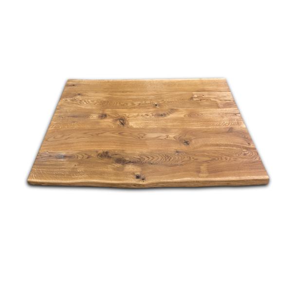 Tischplatte Eiche gebürstet Massiv geölt Altholz 140x90x5 cm