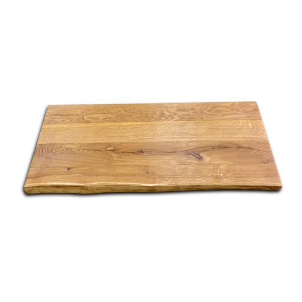 Tischplatte Eiche Rustikal mit Baumkante gebürstet geölt