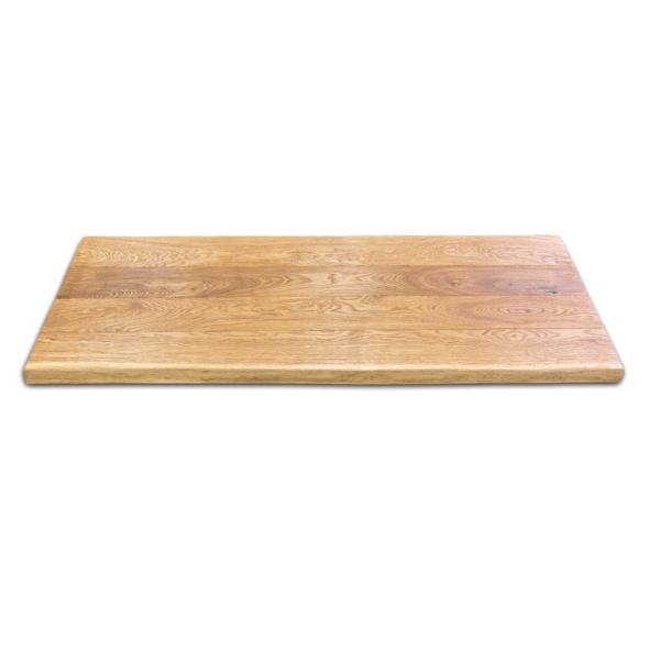 Waschtischplatte Massivholz Eiche gebürstet mit Baumkante geölt