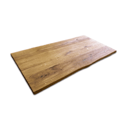 Tischplatte Eiche massiv gebürstet Rustikal geölt mit Baumkante 180x90x5 cm