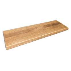 Waschtischplatte Eiche Rustikal Baumkante gebürstet und geölt 180cm