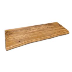 Tischplatte Eiche Rustikal geölt gebürstet mit Baumkante 160x50x5 cm