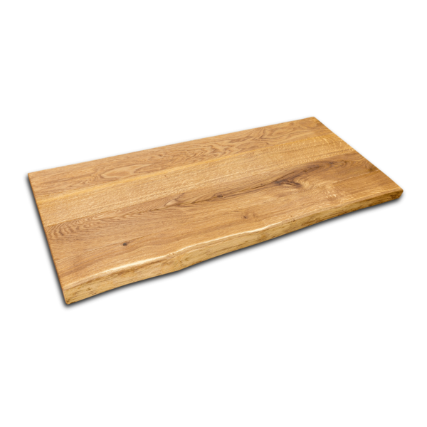 Waschtischplatte Eiche Rustikal gebürstet geölt mit Baumkante 120 cm