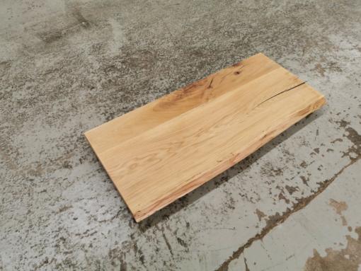 Waschtischplatte Eiche massiv rustikal gebürstet mit Baumkante geölt nach Maß