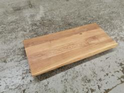Waschtischplatte Eiche gebürstet geölt mit Baumkante 120x50x5 cm