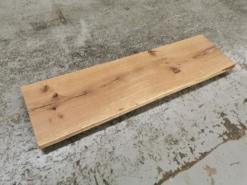 Waschtischplatte Eiche Massivholz geölt mit Baumkante