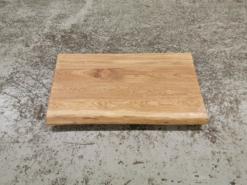 Waschtischplatte Eiche massiv Rustikal gebürstet mit Baumkante