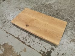 Waschtischplatte Eiche Massivholz geölt Rustikal mit Baumkante