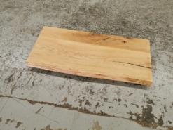 Waschtischplatte Eiche gebürstet Massivholz mit Baumkante geölt