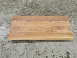 Tischplatte Eiche Rustikal geölt gebürstet mit Baumkante 120x50x5 cm
