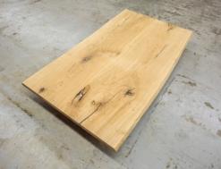 Tischplatte Eiche massiv rustikal Wildeiche mit Baumkante