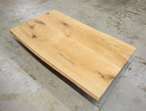Tischplatte Wildeiche massiv Baumkante rustikal