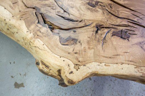 Baumscheibe Tischplatte Eiche massiv geölt