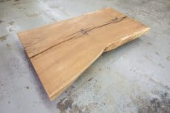 Baumstamm Tischplatte Eiche massiv Rustikal geölt
