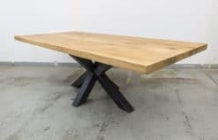 Esstisch Tischplatte Eiche massiv nach Maß mit Baumkante geölt