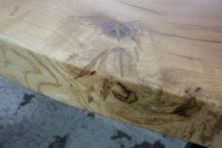 Tischplatte Eiche massiv rustikal nach Maß braun verfüllt
