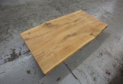 Tischplatte Eiche Massivholz nach Maß mit Baumkante
