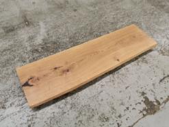 Waschtischplatte Eiche massiv geölt Baumkante rustikal Massivholz