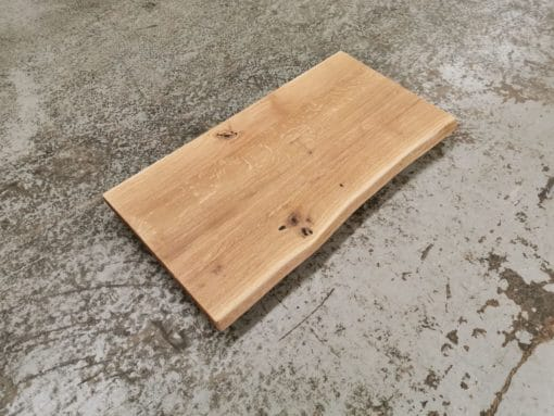 Waschtischplatte Holz Eiche massiv Baumkante