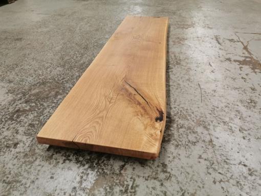 Waschtischplatte Holz massiv Eiche rustikal Baumkante