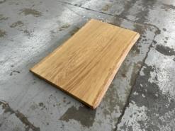 Baumstamm Tischplatte Couchtisch Eiche massiv Baumkante