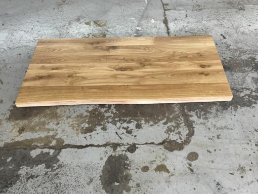 Schreibtischplatte Eiche Wildeiche rustikal mit Baumkante